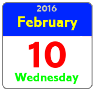 Wednesday February 10th