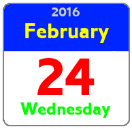 Wednesday February 24th