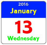 Wednesday January 13th