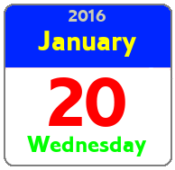 Wednesday January 20th