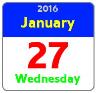 Wednesday January 27th