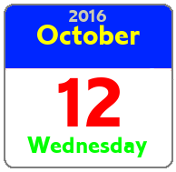 Wednesday October 12th