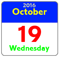 Wednesday October 19th