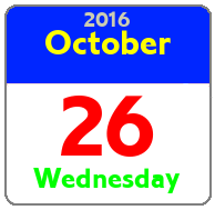 Wednesday October 26th
