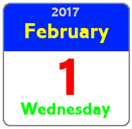 Wednesday February 1st
