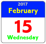 Wednesday February 15th