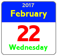 Wednesday February 22nd