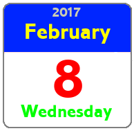Wednesday February 8th