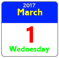 Wednesday March 1st