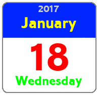 Wednesday January 18th