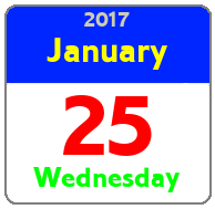 Wednesday January 25th