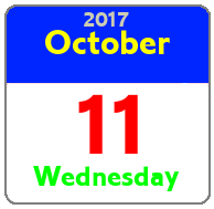 Wednesday October 11th