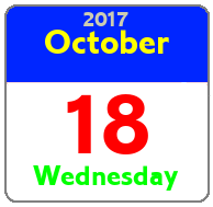 Wednesday October 18th