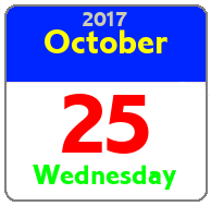 Wednesday October 25th