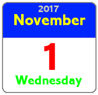 Wednesday November 1st