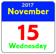 Wednesday November 15th