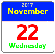 Wednesday November 22nd