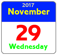 Wednesday November 29th
