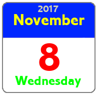 Wednesday November 8th