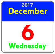 Wednesday December 6th