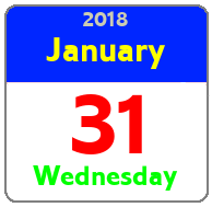 Wednesday January 31st