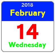 Wednesday February 14th