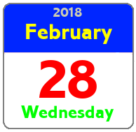Wednesday February 28th