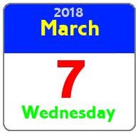 Wednesday March 7th