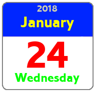 Wednesday January 24th