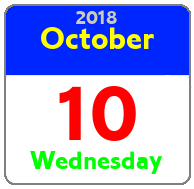 Wednesday October 10th