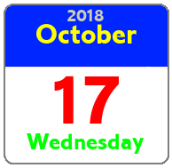 Wednesday October 17th