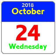 Wednesday October 24th