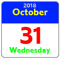 Wednesday October 31st