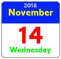 Wednesday November 14th