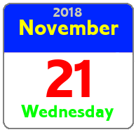 Wednesday November 21st