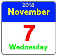 Wednesday November 7th
