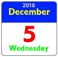 Wednesday December 5th