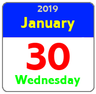 Wednesday January 30th