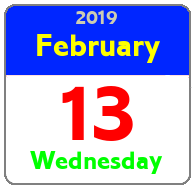 Wednesday February 13th