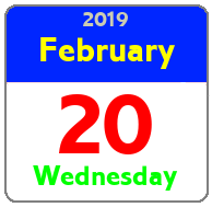 Wednesday February 20th