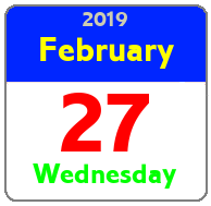 Wednesday February 27th