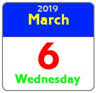 Wednesday March 6th
