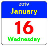Wednesday January 16th