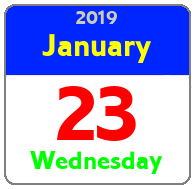 Wednesday January 23rd