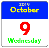 Wednesday October 9th
