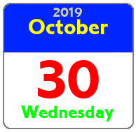 Wednesday October 30th