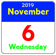 Wednesday November 6th