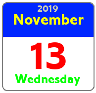 Wednesday November 13th