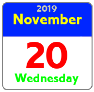 Wednesday November 20th