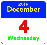 Wednesday December 4th